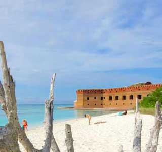 photo of camping area at the dry tortugas