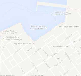 photo of a map of key west