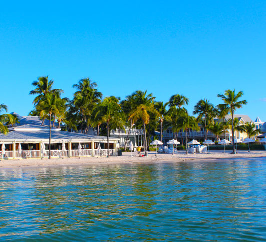 Photo of south beach in key west