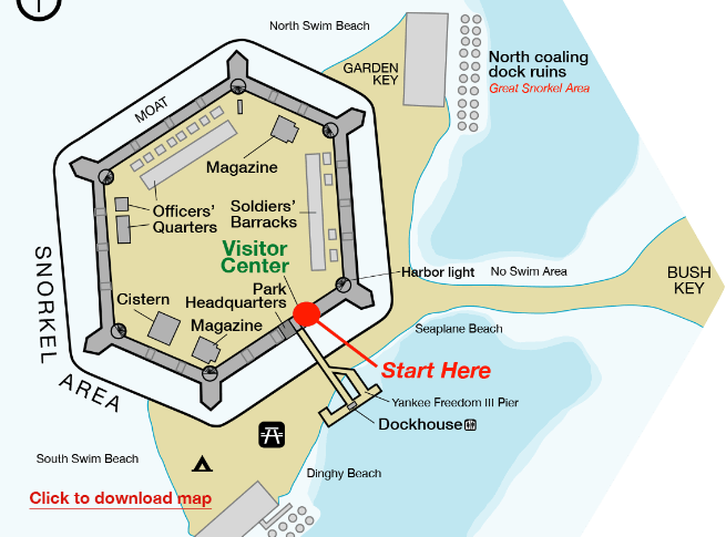 image of fort jefferson map