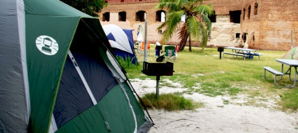 Photo of camping in the Florida Keys
