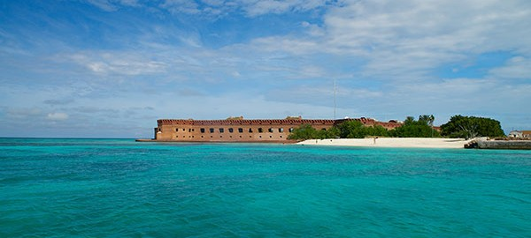 Beautiful Fort Jefferson From The Water