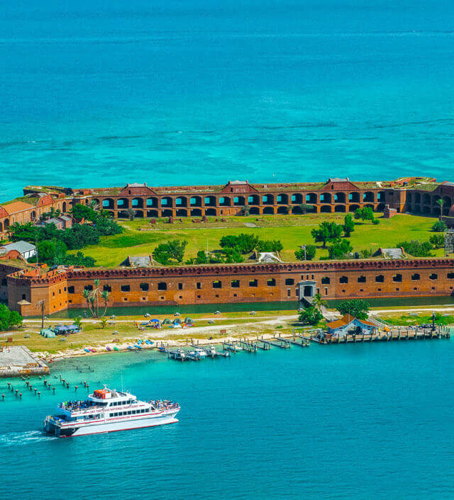 aerial photo of dry tortugas island Mobile