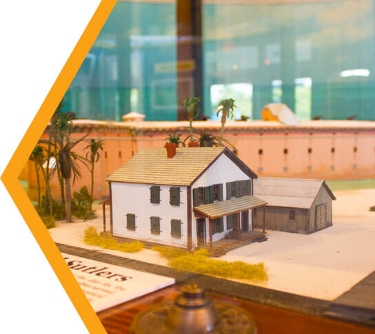 A scale model of Ft. Jefferson inside the Dry Tortugas Interpretive Center